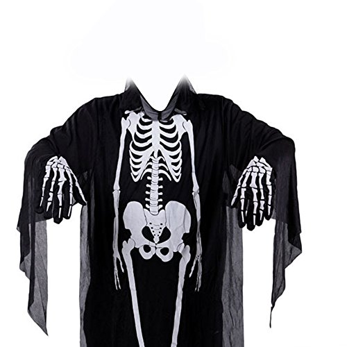 Mavis's Diary Scary Long Sleeves Skeleton Ghost Printed Dress Clothes Special for Halloween Makeup Cosplay (No Hassle Halloween Costumes)