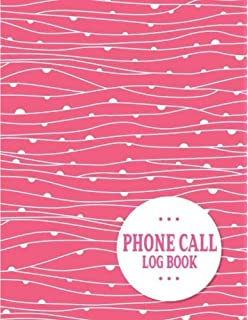 phone call log book 100 pages monitor phone calls and voice mail telephone memo