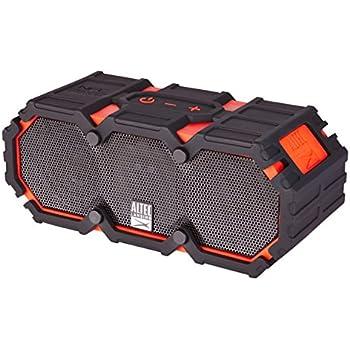 Altec Lansing iMW575 Mini Life Jacket Bluetooth Speaker Waterproof Wireless Bluetooth Speaker, Hands-Free Extended Battery Outdoor Speaker, Ultra-Portable 10ft Range, Red