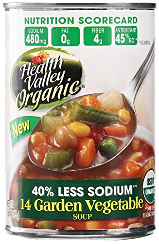 Health Valley Organic 14 Garden Vegetable Soup, Fat Free, 15 (Vegetable Fat)