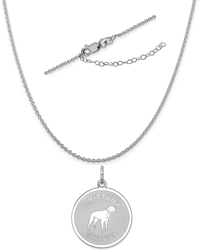 Sterling Silver Anti-Tarnish Treated Cross Disc Charm on an Adjustable Chain Necklace