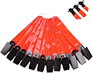 Hunting Accessories Reflective Trail Markers with Clips for Night-n-Day (Pack of 12), Orange