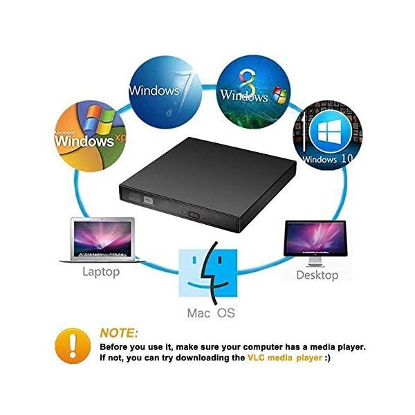 higadget Portable External CD Drive USB 2 0 Portable Slim
