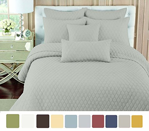 nc-home-fashions-double-ogee-embroidered-pattern-solid-color-quilt-set-twin-silver-gray