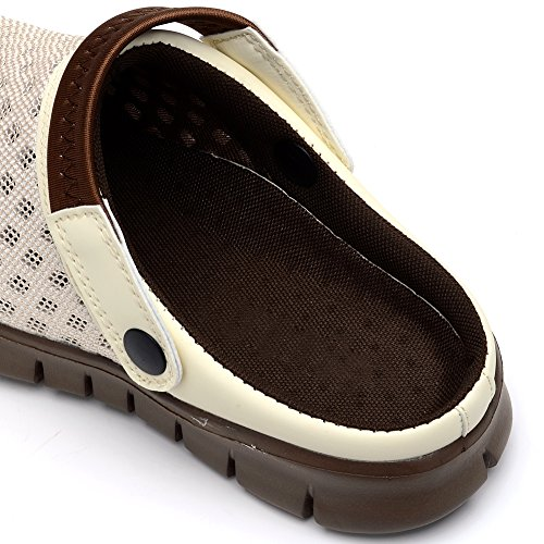 Odema Mens Slide Sandalen Slippers Lichtgewicht Douche Strandschoenen Beige