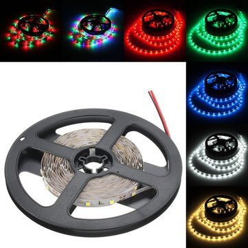 Led Strip Lights - 24w Dc12v 300 2835 White Warm White Blue Red Green Led Flexible Strip Light - Guided Adaptable Striptease Illumination Conducted Versatile Disrobe Illuminate - 1PCs (Canes 6ft Garden)