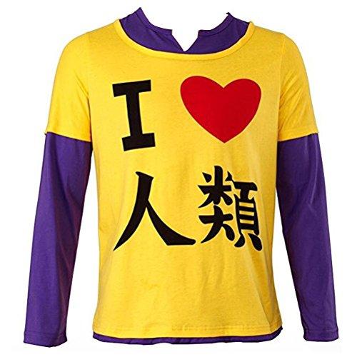 No Game No Life Shiro Costume - Poetic Walk No Game No Life Anime Sora Long Sleeve Tshirt Tee (Medium, Yellow)
