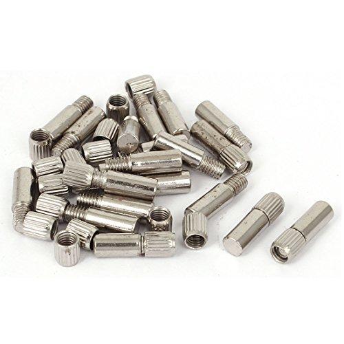 eDealMax Armoire Cabinet étagères Porte 6 mm Dia Plateau Support broches ton Argent 20 Pcs
