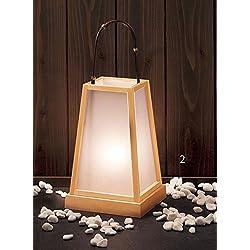 Yamako Japanese Style Lantern White Natural Wood (M) 53210