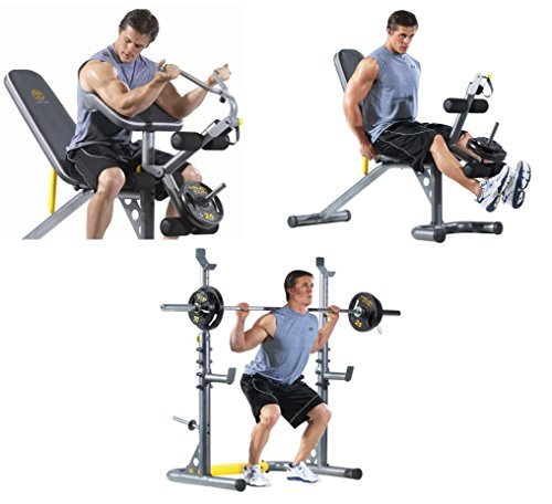 Ultimate Adjustable Physical Fitness Equipment Machine for Cross Fit Exercise or Training at Home Gym for People with Sport Lifestyle - Leg, Biceps or Chest Workout - Bench Press, BONUS e-book Best Care LLC
