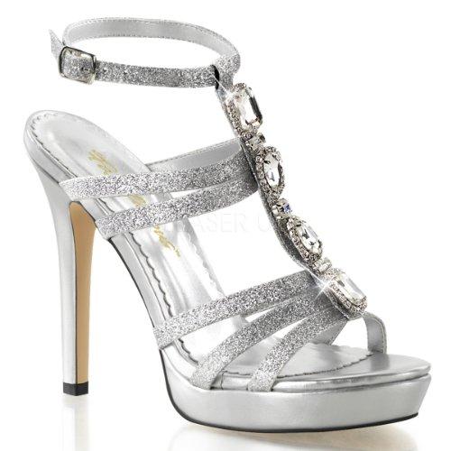 Pleaser - Sandalias de vestir para mujer Slv Mini Glitter