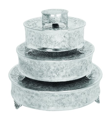 Deco 79 Aluminum Cake Stand for Stylish Host, Set of 4