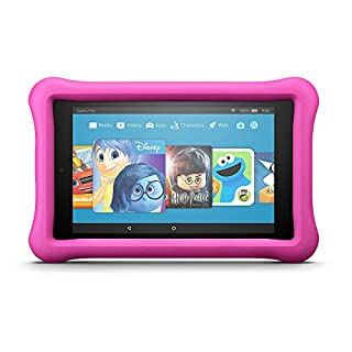 """Fire HD 8 Kids Edition Tablet, 8"""" HD Display, 32 GB, Pink Kid-Proof Case (Previous Generation - 7th)"""