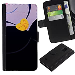 All Phone Most Case / Oferta Especial Cáscara Funda de cuero Monedero Cubierta de proteccion Caso / Wallet Case for Samsung Galaxy S5 Mini, SM-G800 // Drawing Sleep Gold Necklace
