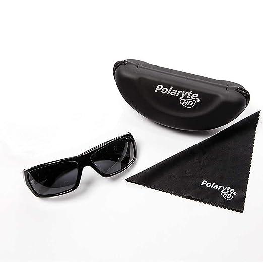 7958e276fe Amazon.com  Polaryte HD Vision Polarized Sunglasses For Men Women Driving  Sports Golf UV Protection Black  Sports   Outdoors