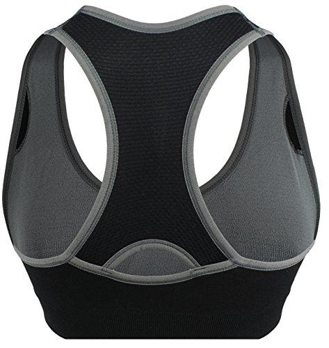 M-Mala - Sujetador deportivo - para mujer 1x negro