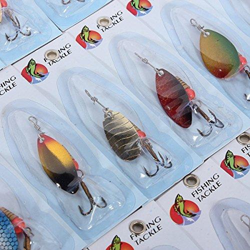 TENGGO 30X Metal Fishing Lures Lures Lures Spinners Baits Assorted Fish Hooks Tackle B07D74CJQD Angelkoffer Bekannt für seine hervorragende Qualität bd7377