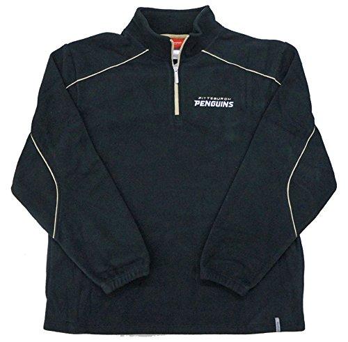 Reebok Pittsburgh Penguins Black Final Score 1/4 Zip Pullover Fleece Sweatshirt (Large) -