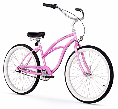 Firmstrong-Urban-Lady-Three-Speed-Beach-Cruiser-Bicycle-26-Inch-Pink