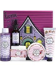 Bath Gift Box for Women - 5 Piece Bath Sets for Women Gift, Spa Kit Includes Body Butter, Hand Cream, Shower Gel, Massage Oil, Bath Bar, Gift Basket for Women Birthday