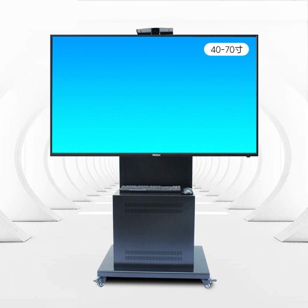 普遍的な tv のカート、32-70 インチのための tv の立場 LED LCD のプラズマフラットパネルキャビネット360º車輪との回転の移動式ワイヤー管理の高さは寝室の教室の会議室のビデオ呼出しを調整する   B07KMZ644D