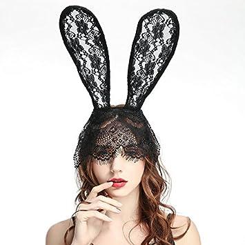 Cat Ears Hair Band Lace Mask Headband Costume Masquerade Hairband Halloween Hot