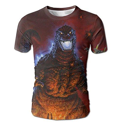 RNFIIEW God-Zilla 3D Cool Printed Mens T Shirts Short Sleeve Tops Crew Neck Clothing Tees