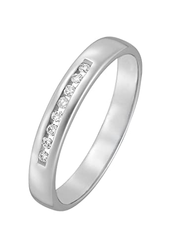 Christ Diamonds Damen Ring 333er Weissgold 8 Diamant Ca 0 08 Karat