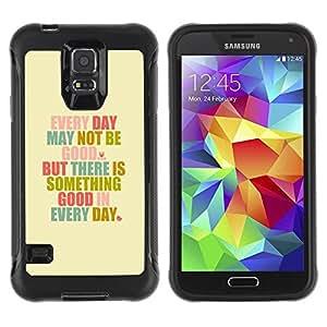 LASTONE PHONE CASE / Suave Silicona Caso Carcasa de Caucho Funda para Samsung Galaxy S5 SM-G900 / Motivational Self Help Good Day Text Quote
