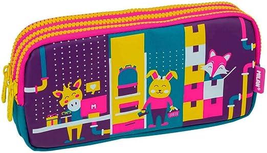 Portatodo Triple Milan Underground Pink: Amazon.es: Oficina y papelería