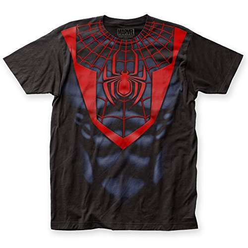 Spider-Man - Mens Morales Suit Big Print T-Shirt (S, Black)