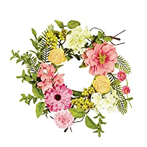 "Sullivans 8"" Mixed Flowers and Berries Wreath 88"