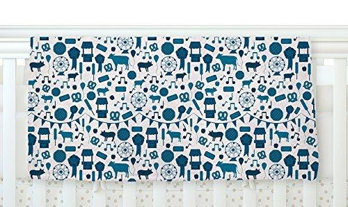 KESS InHouse Stephanie Vaeth Country Fair Blue White Fleece Baby Blanket 40 x 30 [並行輸入品]   B077ZT5Z46