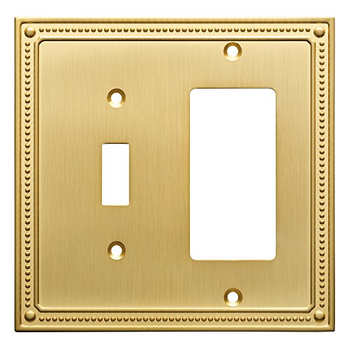 Franklin Brass W35063-BB-C Classic Beaded Switch/Decorator Wall Plate/Switch Plate/Cover, Brushed Brass