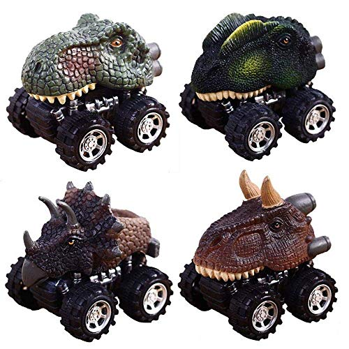 Dinosour Toy Cars for Boys Toddlers, GZCY Dinosour Pull Back Cars for Kids 2-9 Year Old Boys Toys Christmas Gifts Birthday Present (US shipment) -