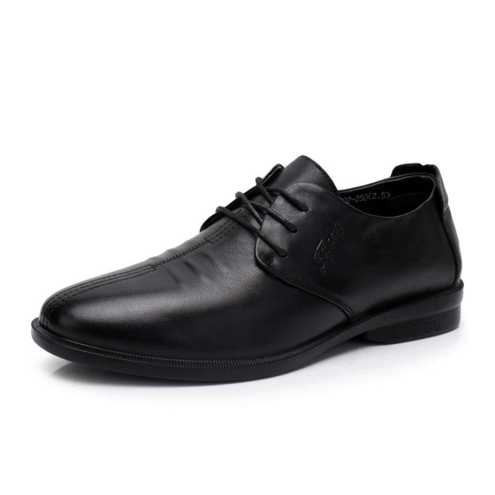 Zapatos De Vestir De Hombre De Negocios Zapatos De Moda con Cordones Simples Classic 42 EU|Black