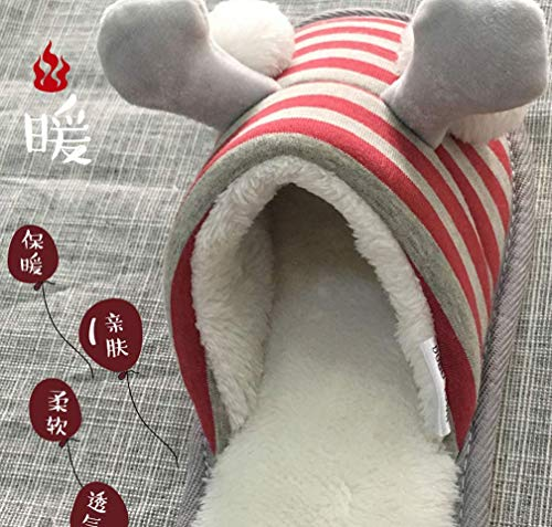Fleece Slippers Red Cute Fuzzy Bedroom House Womens Funny Slipper tTd8pxtwn