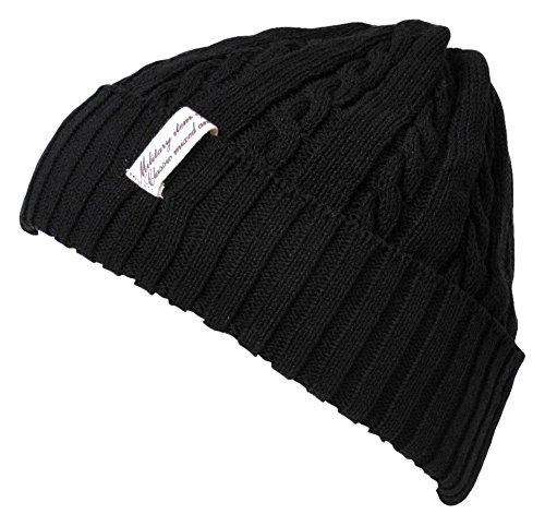 Acanalado negro Hombres Beanie Sombrero Japonés Casualbox Luz Gorros Diseño Estructura Tramo WcgvcCOd