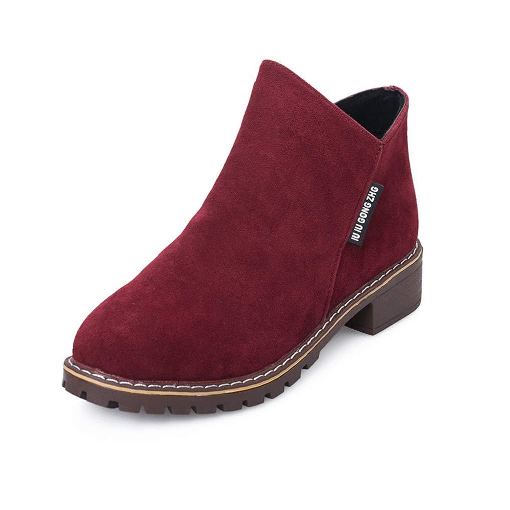 c5c5406707c23 Amazon.com: Eric Carl Women's Winter Ankle Boot Side Zipper Low Heel ...
