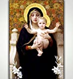 Printed Poster Wall Art Home Decor Hd Prints Oil Paintings on Canvas Virgin Mary Baby Picture