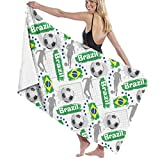 PCU6FRPJ Football Game Wallpaper Pattern Luxury Beach Towels,Personalized Turkish Bath Towels for Gym,Spa,Swimming,Surf,Yoga