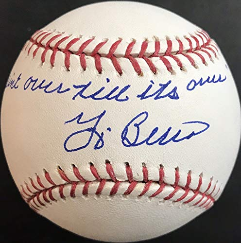 Yogi Berra Autographed Signed Auto Inscribed It Aint Over Till Its Over MLB Baseball Memorabilia JSA COA