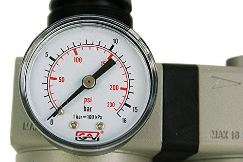 Kombi unit/à di manutenzione//ELIMINA Olio//Acqua Rimozione//Dispositivo ad aria compressa//pneumatica//Made In England//Strumento//Officina//Compressore//qual Oliatore 1//2/PCL con manometro Filtro Aria Compressa 1/pezzi Riduttore di pressione