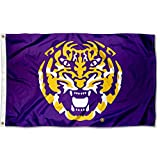 Louisiana State LSU Tigers Tiger Head Flag