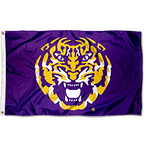 College Flags and Banners Co. Louisiana State LSU Tigers Tiger Head Flag ()