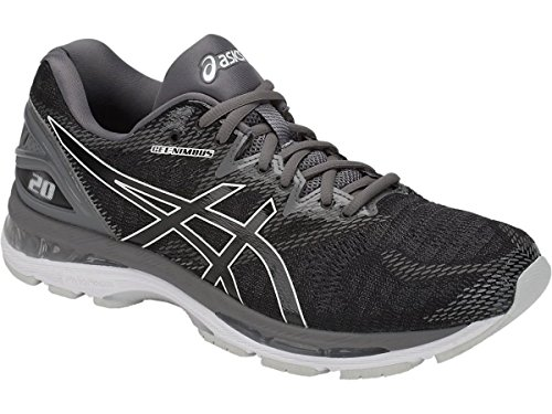 ASICS Men's Gel-Nimbus 20 Running Shoes (10.5 D(M) US, Black/Carbon)
