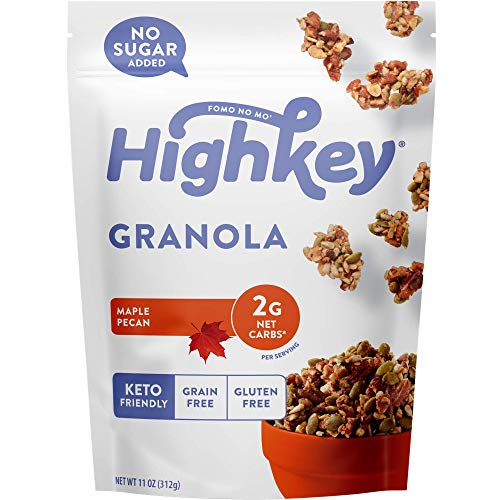 HighKey Keto Food Low Carb Granola Cereal & Clusters – Gluten Free Snacks & Breakfast Foods – Treats – Zero Added Sugar, High Protein Nut Snack – Diabetic, Paleo Healthy Diet Friendly Products