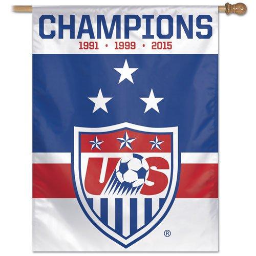 SOCCER US Soccer - National Team 14084115 Vertical Flag, Small, Black
