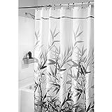 InterDesign Anzu Fabric Shower Curtain, Stall, 54x78-Inch, Gray