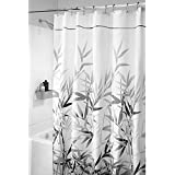 "InterDesign Anzu Fabric Shower Curtain - Stall, 54"" x 78"", Gray"